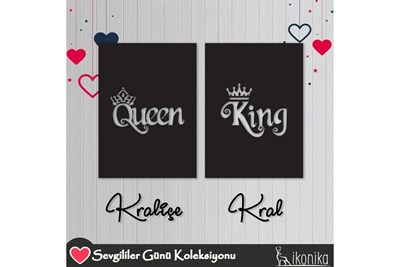 Duvar TablolarıQUEEN AND KİNG METAL TABLO